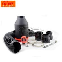 R-EP воздушный фильтр из углеродного волокна 76 мм 3 дюйма Автомобильный воздушный фильтр автомобильный Впускной модифицированный сильфон может быть очищен повторно использованный