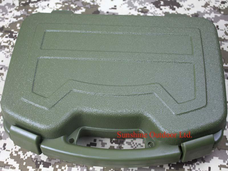 Renforcer tactique ABS boîte en plastique vert boîtier en plastique boîte d'emballage pour la chasse airsoft-livraison gratuite