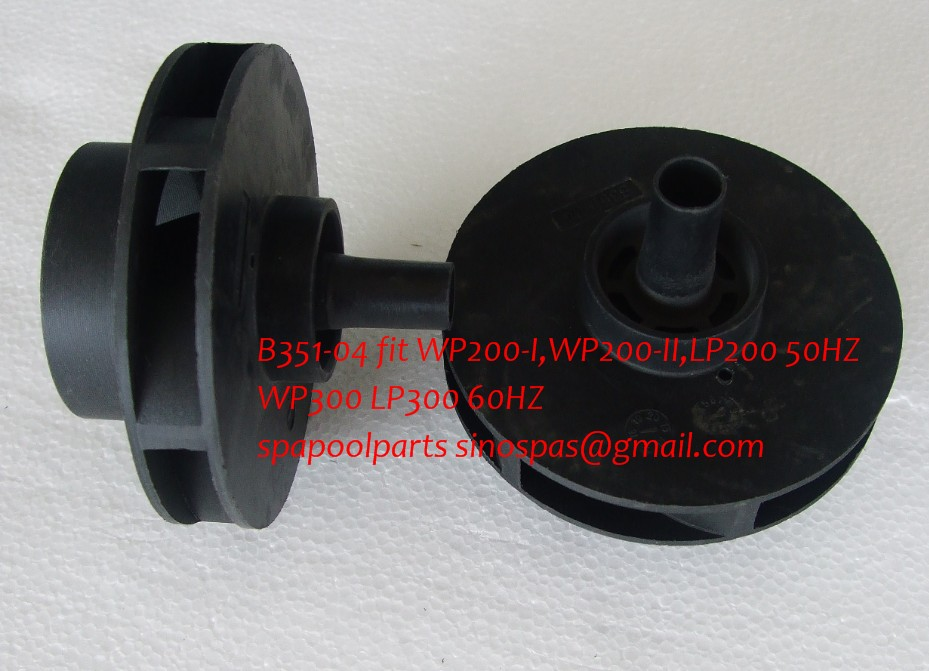 Pump Impeller B351-04,Suitable for WP200-I,WP200-II,LP300 60HZ,LP200 50HZ LP250 50HZ LX pump impellor lx tda200 hot tub pump impeller spa pump impeller for tda200 avaliable for 50hz or 60hz
