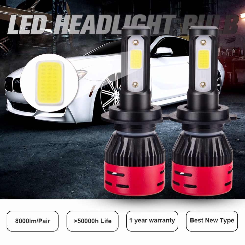 AmmToo H7 LED Car Headlight H4 Led Bulb 9005/HB3 9006/HB4 Fog light H1 H3 H11 Auto Led Lamp 72W 8000LM 4300K 6500K for Toyota