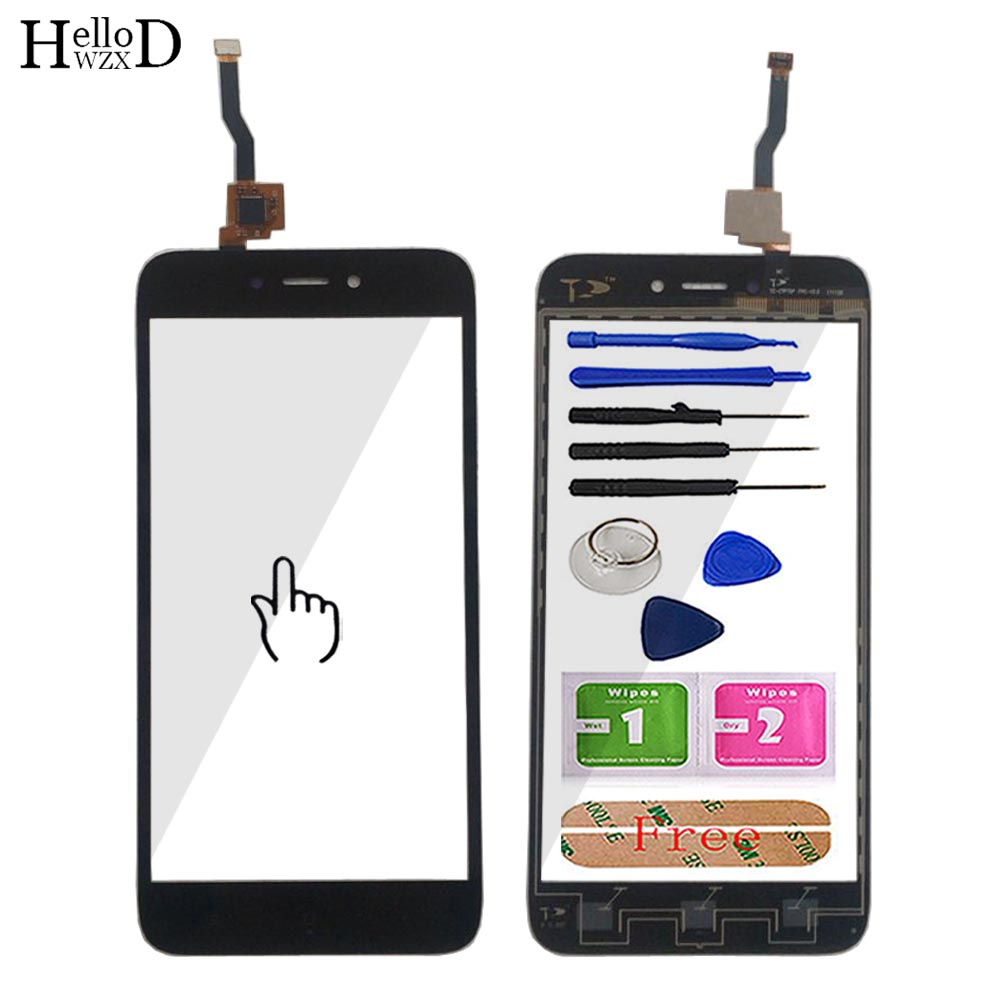 Mobile Touch Screen Panel For Xiaomi Redmi 5A TouchScreen Digitizer Front Touchpad Glass Panel Sensor Repair Parts 5'' Tool Glue