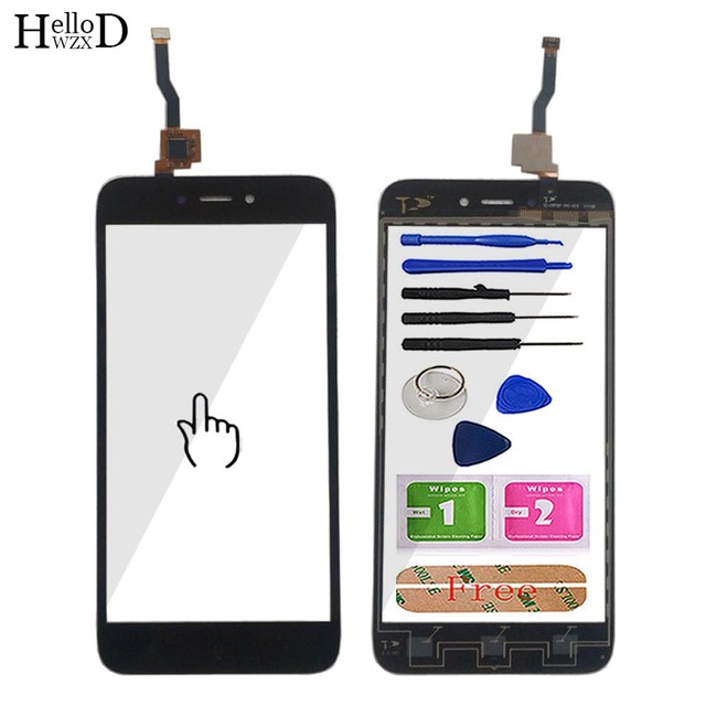 Mobile Touch Screen Panel For Xiaomi Redmi 5A TouchScreen Digitizer Front Touchpad Glass Panel Sensor Repair Parts 5 Tool Glue