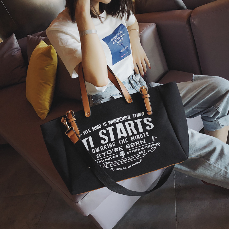 Luxury Ladies Bags Canvas Fashion Large Capacity Tote Bags Letter Shoulder Messenger Bags for Women 2018 Casual Tote Luis Vuiton 2