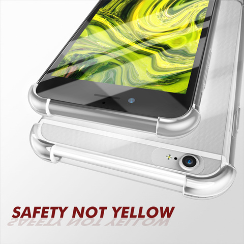 Super Shockproof Clear Soft Case for iPhone 6 s 6S 7 8 Plus 7Plus 8Plus X XS Max XR Silicone Transparent cell Phone Back Cover Islamabad