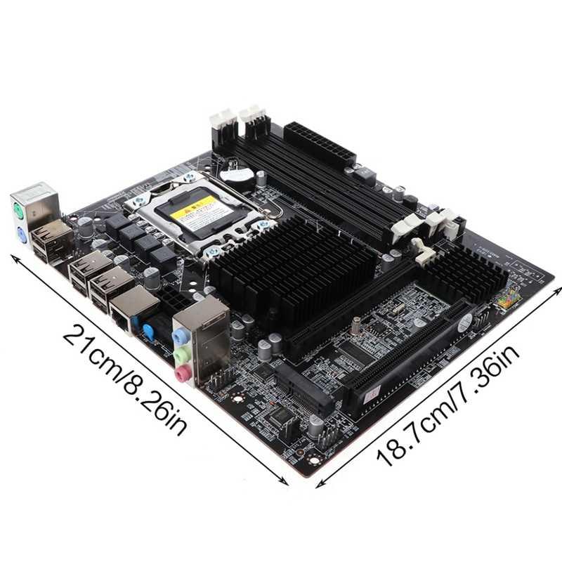 X58 デスクトップマザーボード Lga 1366 4 チャンネル Ddr3 32 ギガバイト Ram M-Sata ためのインテル E5520/ l5520 X5650 コア I7