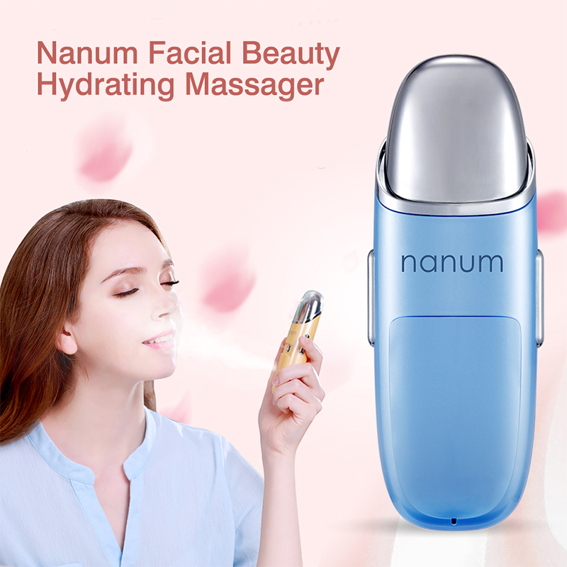 NANUM facial beauty hydrating massager usb mini facial humidifier Care Health Spa Mist Beauty Skin Care Steamer Sprayer hydrating water portable face spray care health spa nano spray mist facial steamer for skin ultrasonic face beauty care