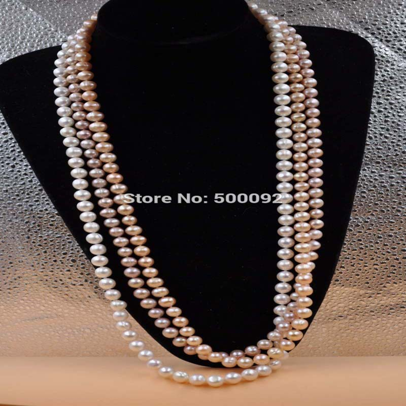 Genuine 30 Long White Cultured Freshwater Pearl Necklace 9mm
