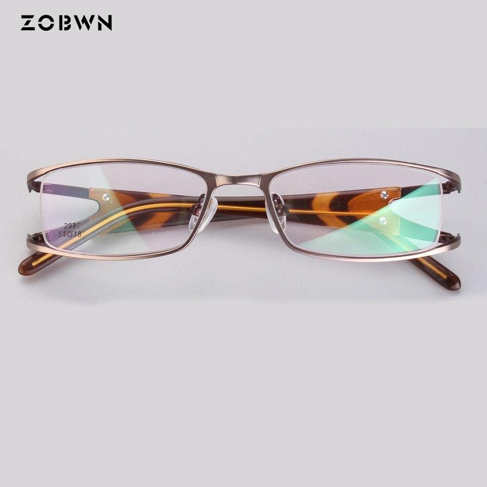 ZOBWN 2018 Hot Sale Women Eyeglasses Frame Ladies Eye Glasses Optical Glasses Frame Oculos Feminino Masculino Gold Wine Silver