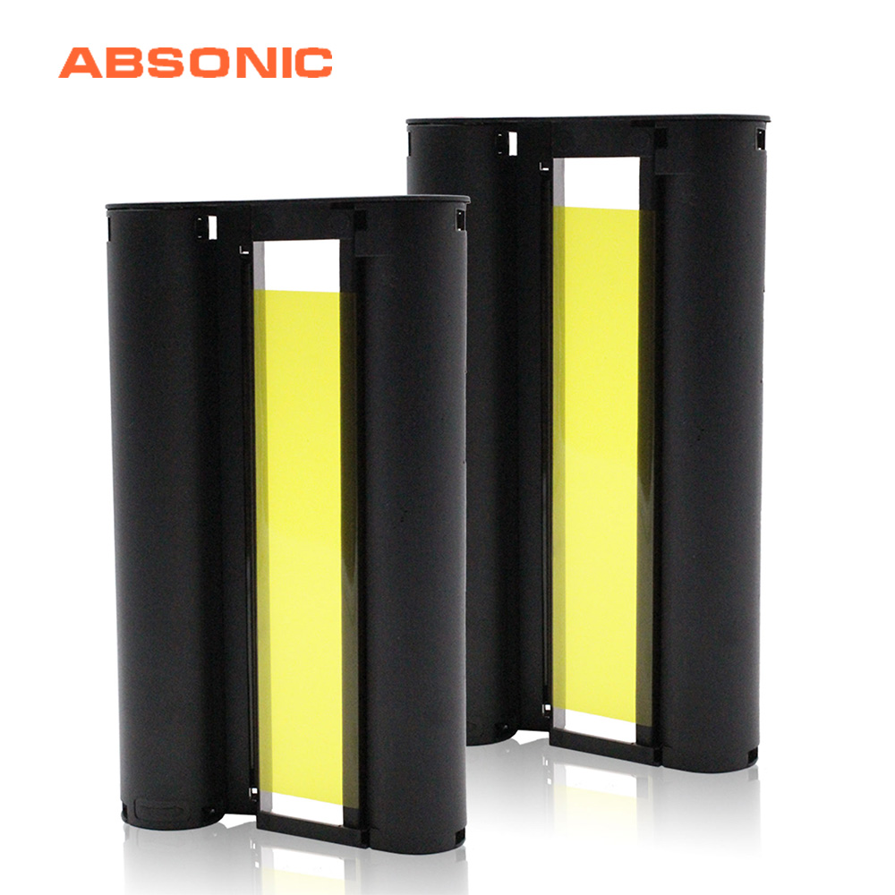 Absonic 2PCS For Canon Selphy CP1300 Ink Cartridges CP910 CP1200 CP900 Photo Printers KP-108IN KP108 Printers Ribbon (No Paper)
