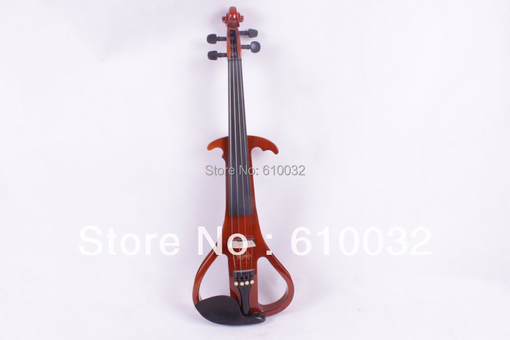 4/4 Electric Violin Solid wood 19--29#  brown color  4string handmade new solid maple wood brown acoustic violin violino 4 4 electric violin case bow included