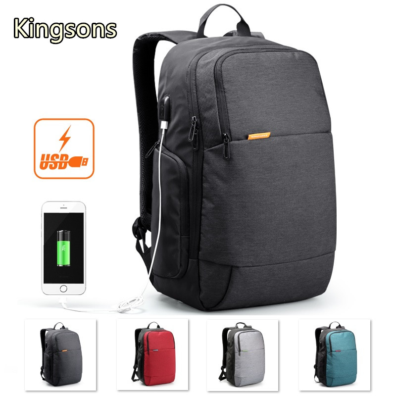 Hot Kingsons Brand Backpack For Laptop 15,15.6,Notebook 14,15.4 Compute Bag,Travel,Business,Office Worker,Free Shipping 3143 new hot brand canvas backpack bag for laptop 1113 inch travel business office worker bag school pack free drop shipping 1133