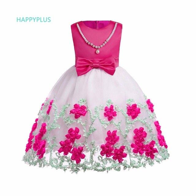ebc4489b6392a HAPPYPLUS robe enfant en bas âge fille fleur été 2018 robes de soirée pour  filles 4