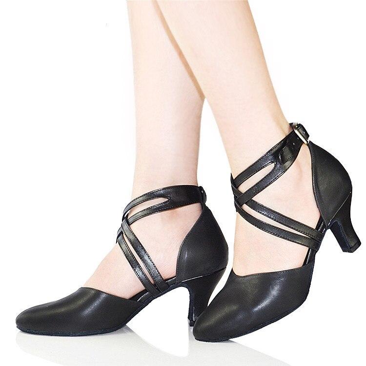 Nuevo 2019 Zapato de mujer en zapatos de baile de cuero Zapato de - Zapatillas - foto 3