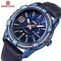 2018 New Brand NAVIFORCE Fashion Casual Waterproof Quartz Watch Men Military Leather Sports Watches Man Clock