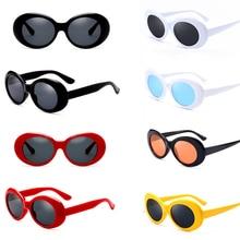 Fashion Punk Cool Retro Unisex For Women Men Kurt Cobain Mirrored Glasses Sunglasses Vintage NIRVANA Round цена