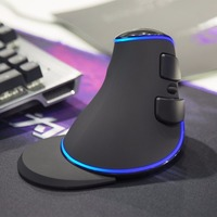 Delux M618 PLUS SingleColor Vertical Mouse Blue Light Ergonomic Wired Mouse Gaming Mouse With Wrist For