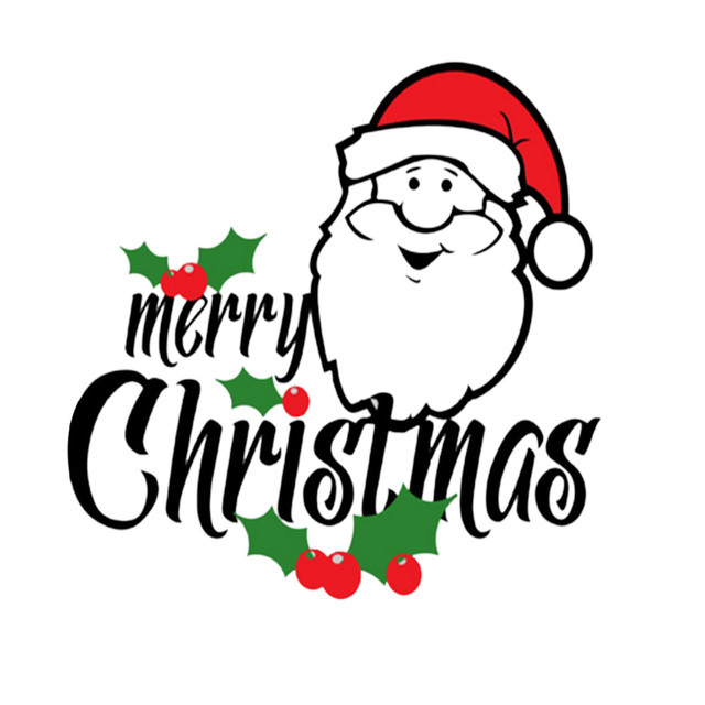 2017 new product merry christmas santa claus wallpaper stickers fashion new elements