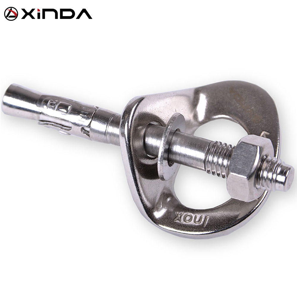 XINDA Professional Rock Climb Fastening Bolt Fixed Point Expansion Screw Piton Karabiner Rock Piton Nut Outdoor Sports Equipment
