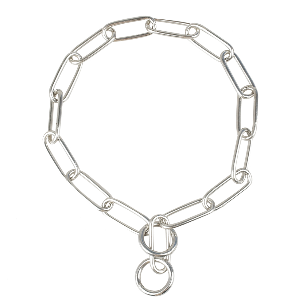 p choke dog pet training collor stainless steel chain