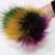 Poms do Pom da pele Bola para Hats & Caps Para Sapatos Chapéus sacos de Acessórios Genuínos Real Pompom Pompom De Pele de Guaxinim Grande Pele Natural para inverno bola