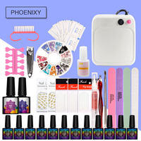 Manicure Set 36W UV Lamp 12Pcs Nail Gel Varnish Polish Set For Manicure With Manicure Tools Nail Art Tools Gel Nail Polish Set