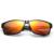 Homem gentil JOGAL Revestimento de Lente Dos Óculos De Sol de Alumínio E Magnésio Quadro De Fibra De Carbono Acessórios Eyewear UV 400 2016 Venda Quente