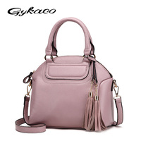 Gykaeo 2017 Winter New Women Casual Small Handbag Ladies Portable Shell Tassel Messenger Bags Leather Crossbody