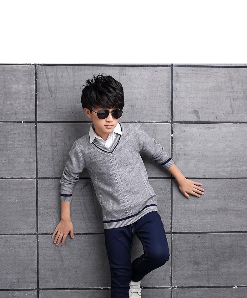 HTB1rcYFOXXXXXXvXVXXq6xXFXXXU - 2017 Children's sweater Winter new  Keep warm Cashmere boy sweater V-collar Kids for boys Children's clothing Winter clothing
