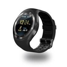 Y1 круглый Bluetooth 3.0 умные часы мужские и женские классические деловые SmartWatch для Android