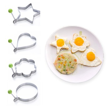 NEW Stainless steel form for frying eggs tools omelette mould device egg/pancake ring egg shaped kitchen breakfast appliances