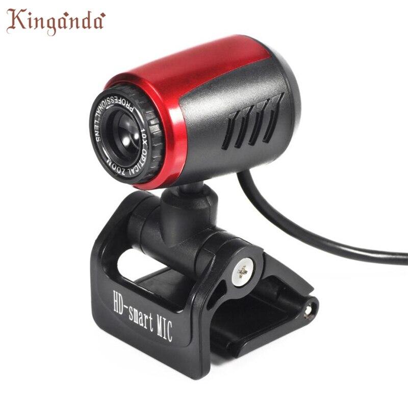 Webcam USB 2.0 HD Camera Web Cam With Microphone Mic LED For PC Laptop Camara Web Drop shipping 17Aug11