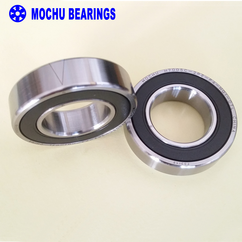 1pair 7005 H7005C 2RZ P4 HQ1 DT 25x47x12 Sealed Angular Contact Bearings Speed Spindle Bearings CNC