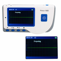 Portable And Easy To Operate Prince 180B Handheld Electrocardiogram LCD Screen ECG EKG Portable Monitor CE
