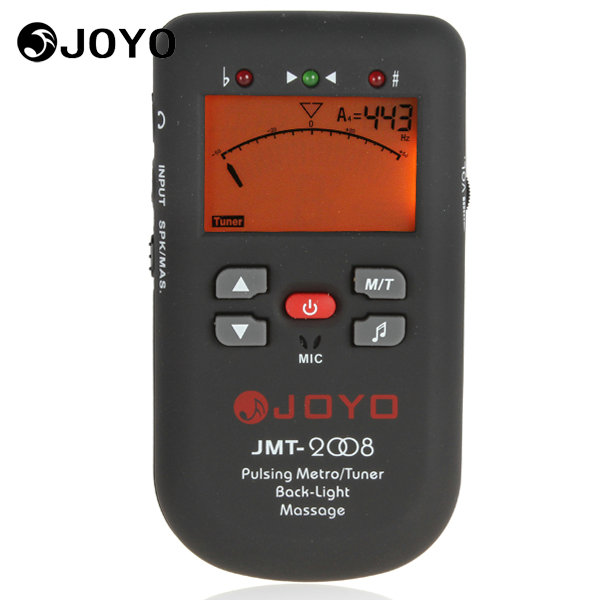 JOYO JMT-2008 LCD Display Clip-on Piano Tuner Digital Pulsating Metronome Tuner Backlight with Massage Function joyo jmt 03 mini clip on digital guitar tuner