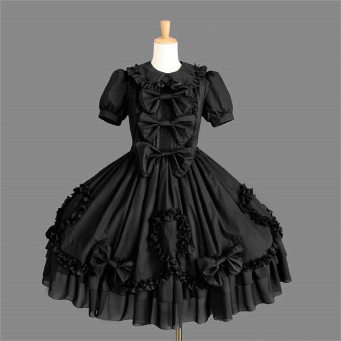 Western Punk Gothique Lolita Style Noir Acheter Mesure Dress Sur PZuTOkXi