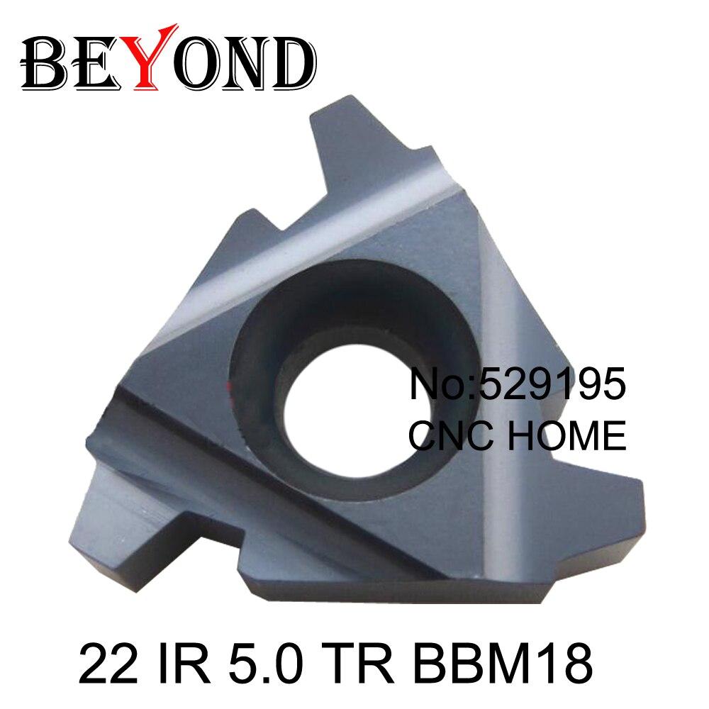 22 IR 5 0 TR BBM18 indexable Tungsten Carbide Threading Lathe Inserts For Threaded Holder thread