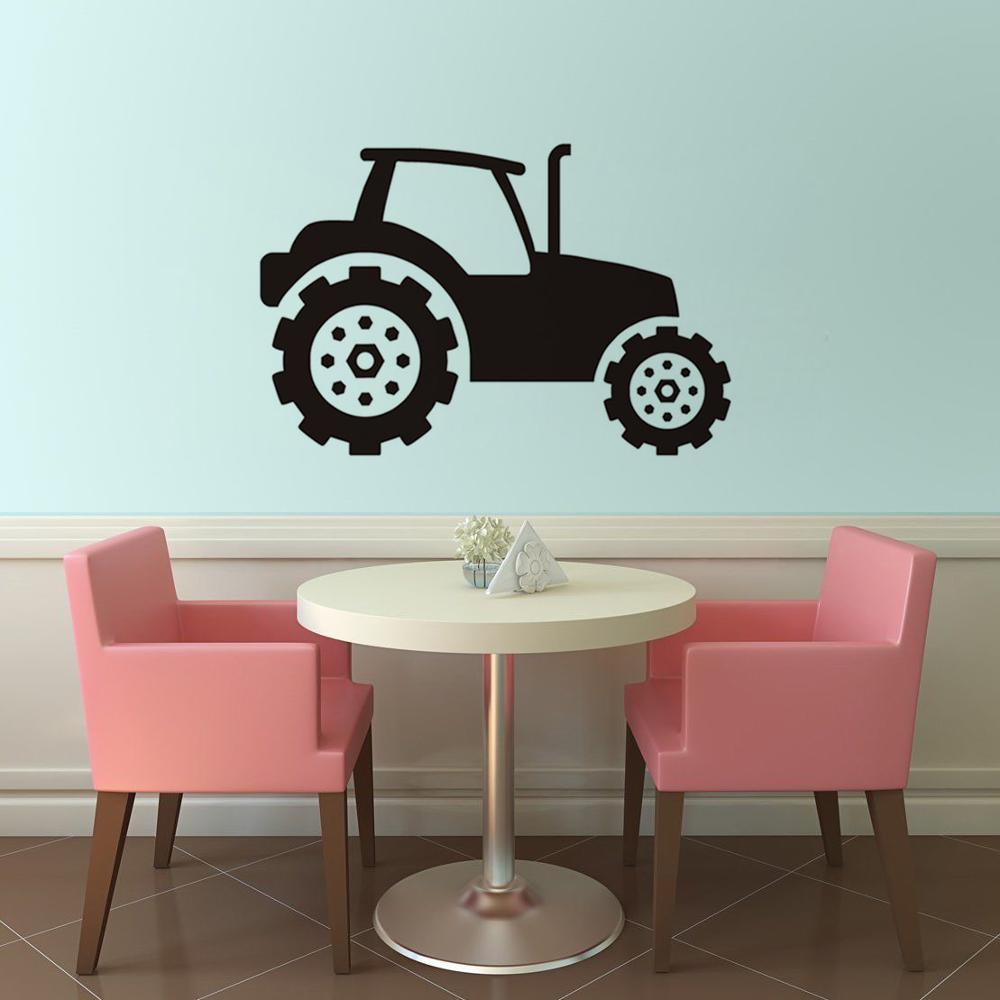 Online get cheap wall stickers cars tractor aliexpress kids tractor wall sticker self adhesive vinyl wall decals for kids rooms car art mural home amipublicfo Gallery