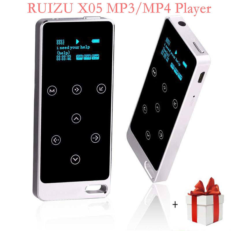 Original RUIZU X05 All Metal HIFI MP3 Music Player Touch Screen 8gb 100hour Playback High Quality Lossless Sound Sport Walkman