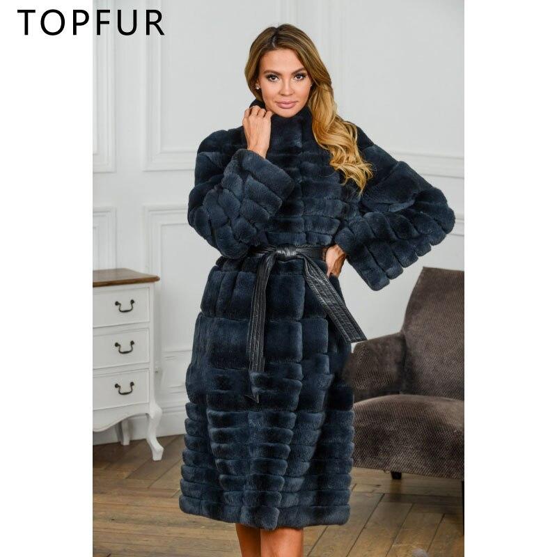 Style Fourrure Taille Col Femmes Naturelle De Chaud Avec Vente La Réel Luxe Topfur Lapin Chaude Plus Manteau Rex Nouveau D'hiver TqxpA0