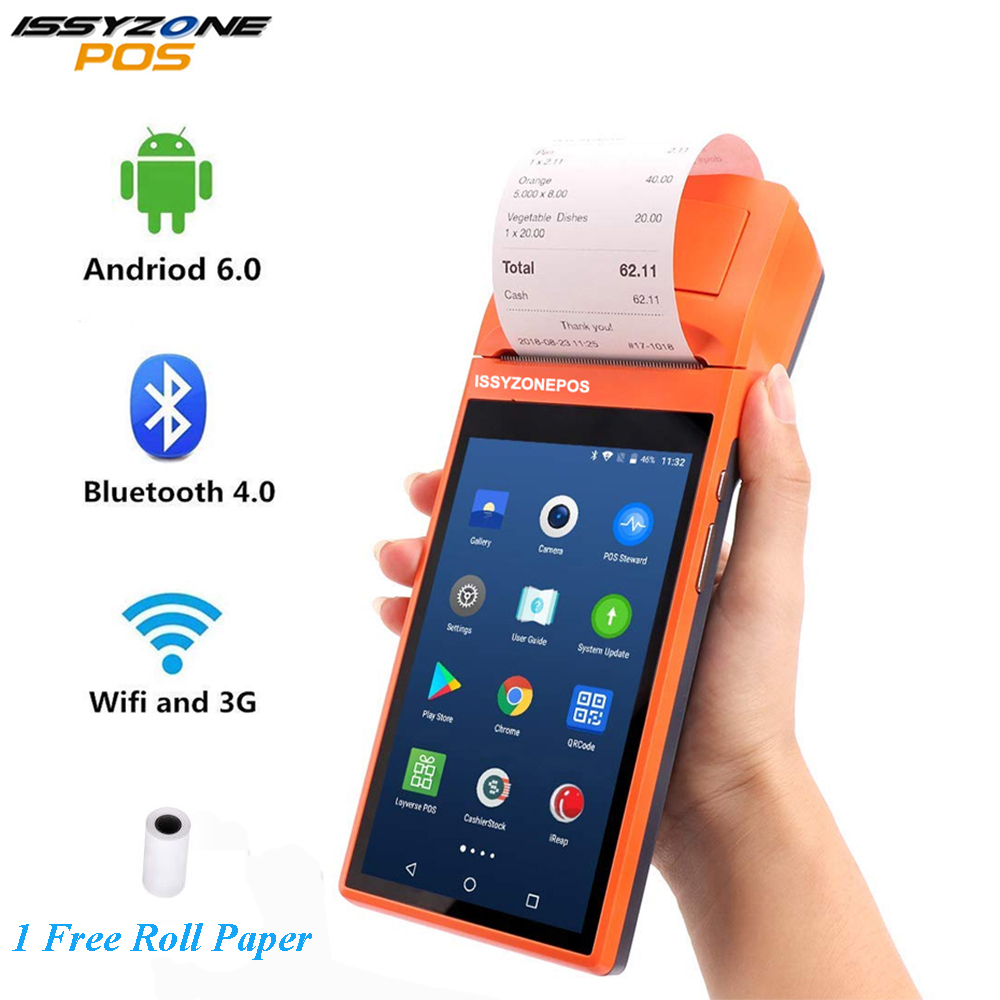 Sunmi V1s Android 6.0 POS Terminal Handled PDA 3G WiFi Bluetooth Printer Cash Order Receipt Type-C Loyverse iEARP For Restaurant Рюкзак