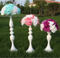 30cm 10pcs/lot high wedding kissing ball stick European classical WHITE candle stick/ wrought iron candle sticks without flower