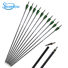 6/12pcs Archery Mix Carbon Arrows 500 Spine OD7.8mm 30Arrow Outdoor Camping Practicing Shooting Hunting Competition Accessories
