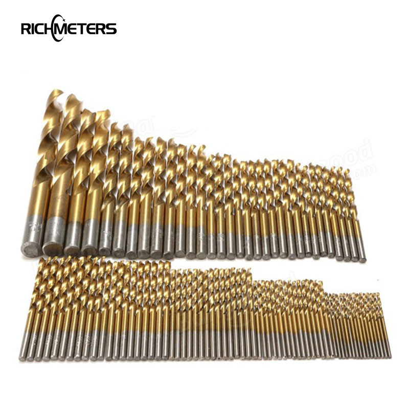 99 Pcs Titanium HSS Drill Bits Coated 1.5mm-10mm Stainless Steel Electrical Drill Tools H019