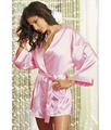 Sexy Lingerie Pink Satin Sleepwear Chemise Sleepwear Set Women's Sexy Sleepwear Nightwear SL8007