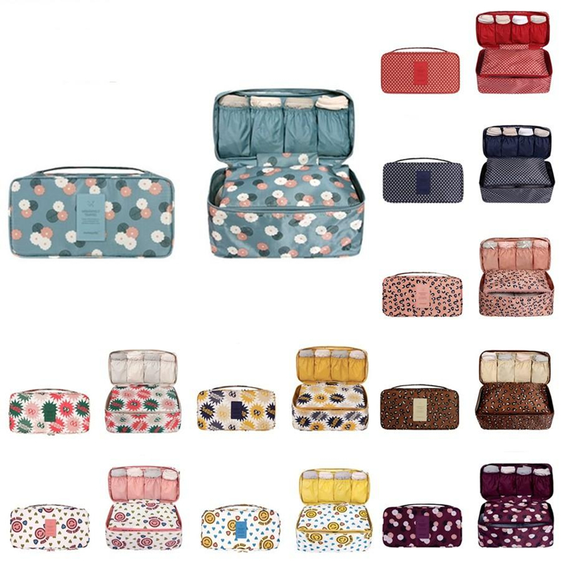 Купить с кэшбэком RUPUTIN 2018 New Travel Bra Bag Underwear Organizer Bag Cosmetic Daily Toiletries Storage Bag Women's High Quality Wash Case Bag