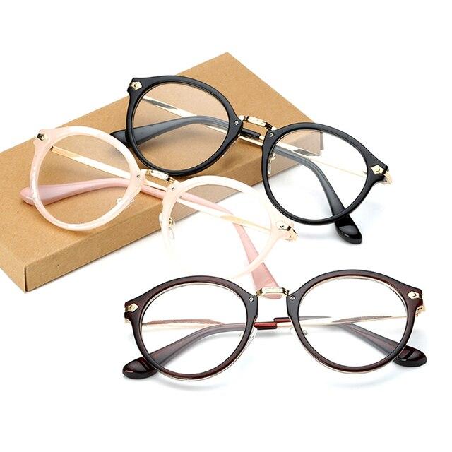 Vintage hombres mujeres gafas redondas Marcos claro borde completo ...