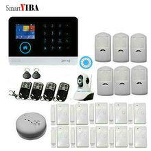 SmartYIBA 3G WCDMA WIFI Wireless Alarm System Home Security Intruder Anti Burglar Alarm System Video IP Camera Smoke Fire Sensor