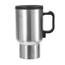 12 В 450 мл автомобильный нагревательный чайник из нержавеющей стали для путешествий, кружка с подогревом для кофе, водонагреватель с кабелем для прикуривателя