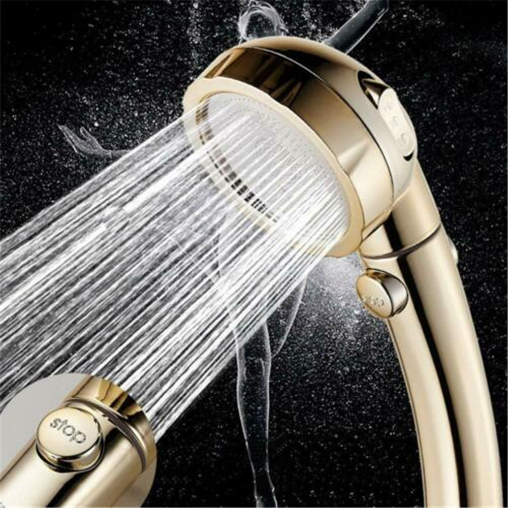 3 In 1 High Pressure Showerhead Handheld Shower Head With ON/Off Pause ON OFF