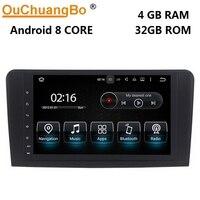 Ouchuangbo 9 дюймов Andriod 8,0 аудио плательщик радио для Benz ML W164 GL X164 с gps навигацией 1080 P видео 8 core 4 ГБ + 32 ГБ